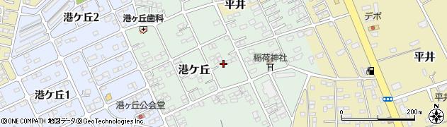 茨城県鹿嶋市港ケ丘周辺の地図
