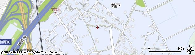茨城県つくばみらい市筒戸周辺の地図