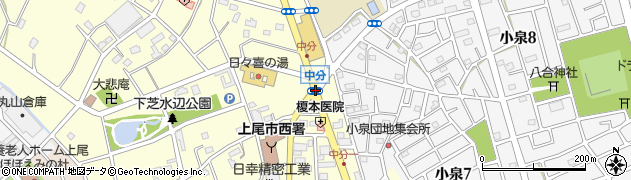 中分周辺の地図