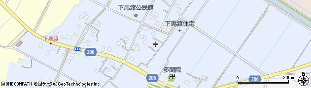 茨城県稲敷市下馬渡周辺の地図