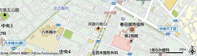 埼玉県春日部市中央周辺の地図