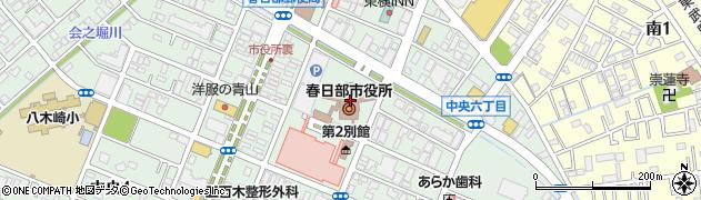 埼玉県春日部市周辺の地図