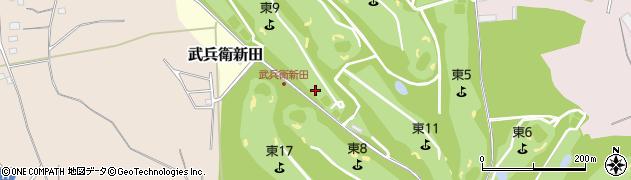茨城県つくばみらい市武兵衛新田周辺の地図