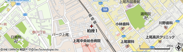 柏座マンション周辺の地図