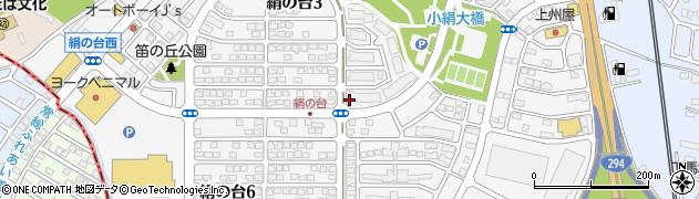 茨城県つくばみらい市絹の台周辺の地図