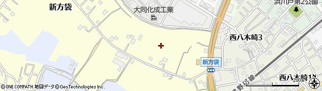 埼玉県春日部市新方袋周辺の地図