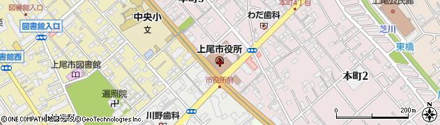 埼玉県上尾市周辺の地図