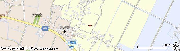茨城県稲敷市上馬渡周辺の地図