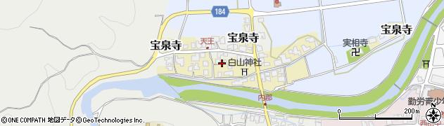 福井県丹生郡越前町宝泉寺周辺の地図