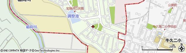 茨城県つくば市宝陽台周辺の地図