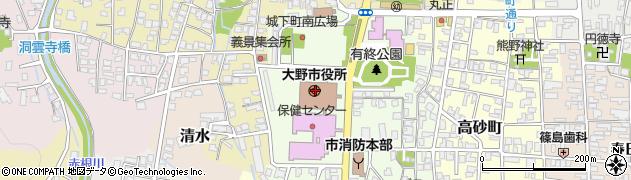 福井県大野市周辺の地図