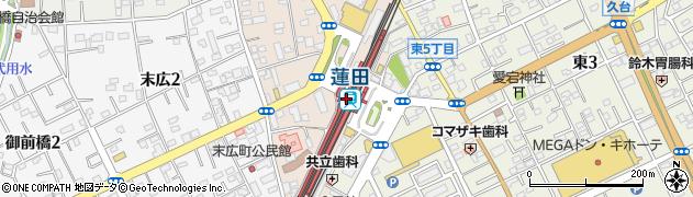 埼玉県蓮田市周辺の地図