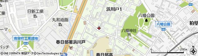 埼玉県春日部市浜川戸周辺の地図