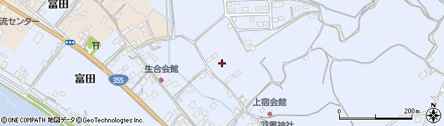 茨城県行方市富田周辺の地図