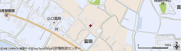 茨城県行方市粗毛周辺の地図
