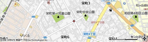 茨城県牛久市栄町周辺の地図