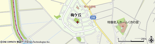 茨城県つくば市梅ケ丘周辺の地図