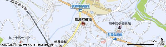 埼玉県秩父郡横瀬町周辺の地図