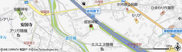 姫宮社周辺の地図
