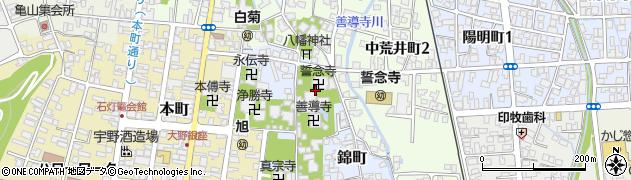 誓念寺周辺の地図