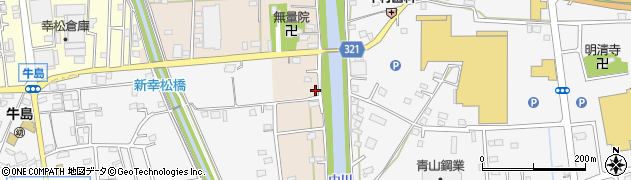 埼玉県春日部市新川95周辺の地図