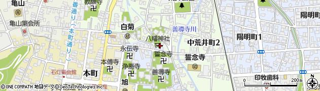 八幡神社周辺の地図