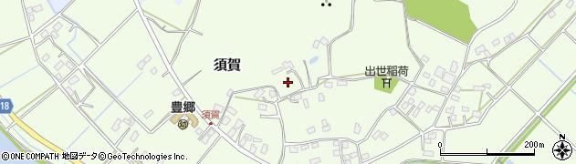 茨城県鹿嶋市須賀周辺の地図