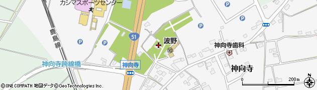 鶴駕山神向寺周辺の地図