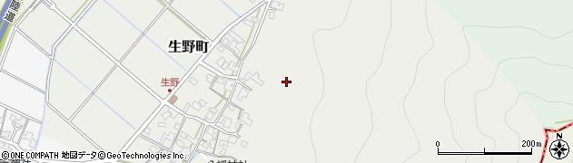 福井県福井市生野町周辺の地図