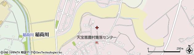 茨城県つくば市天宝喜周辺の地図