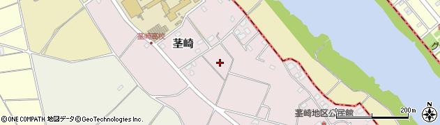 茨城県つくば市茎崎周辺の地図