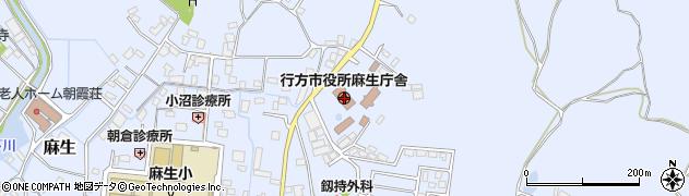 茨城県行方市周辺の地図