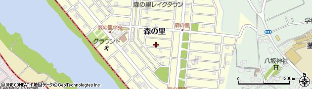 茨城県つくば市森の里周辺の地図