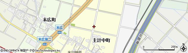 福井県福井市主計中町周辺の地図