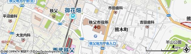 埼玉県秩父市周辺の地図