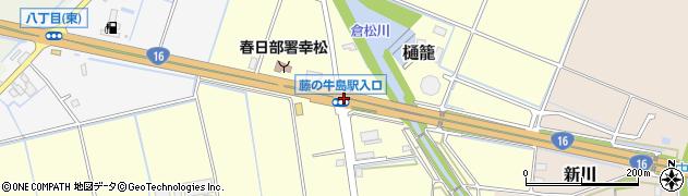 藤の牛島駅入口周辺の地図