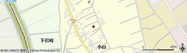 茨城県つくば市小山周辺の地図
