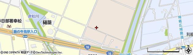 埼玉県春日部市新川周辺の地図