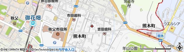 埼玉県秩父市熊木町周辺の地図
