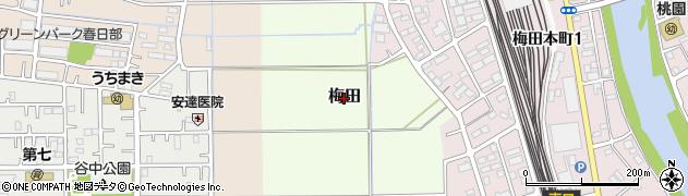 埼玉県春日部市梅田周辺の地図