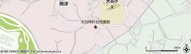 美浦村役場 大谷時計台児童館周辺の地図