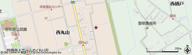 茨城県つくばみらい市西丸山周辺の地図