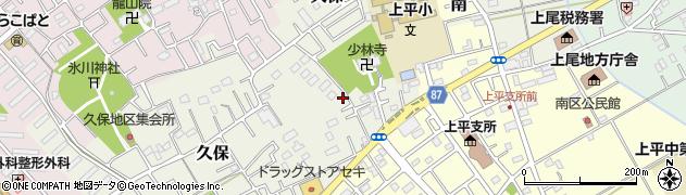 埼玉県上尾市西門前周辺の地図