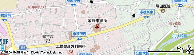 長野県茅野市周辺の地図