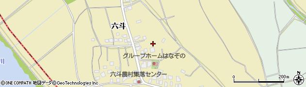 茨城県つくば市六斗周辺の地図