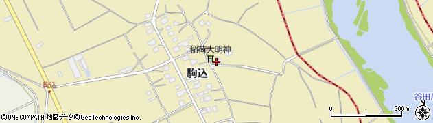 茨城県つくば市駒込周辺の地図