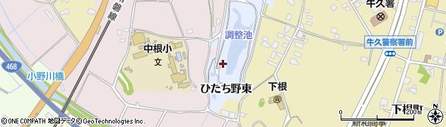 茨城県牛久市ひたち野東周辺の地図