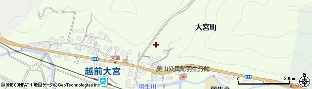 福井県福井市大宮町周辺の地図