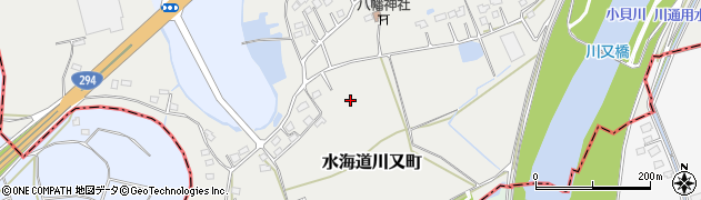 茨城県常総市水海道川又町周辺の地図