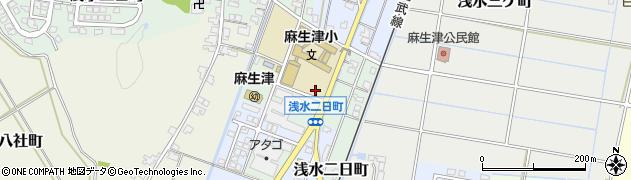 福井県福井市浅水二日町周辺の地図
